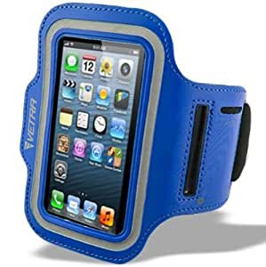 VETRA Cell-Fit The Best Sports Universal Armband Case Cover For Gym Running Cell phone Premium Training Arm Band For Cellular Compatible Apple Iphone 6 Iphone 5 5G 5S 5C Iphone 4 4S 4G Sumsong Galaxy 2 Samsung Galaxy 3 S3 For Nokia Lumia 920 Lumia 620 Lumia 925 Lumia 928 For LG Optimus Elite HTC One For BlackBerry Bold 9900 Bold 9930 Z10 Q10 Smartphones Mobile + Key Holder Light Weight NEW
