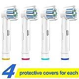Elektrische Zahnbürste Ersatz Für Oral B, Präzision sauber, Kompatibler Bürstenkopf, Ersatzbürsten für Oral B Zahnbürsten, Bürstenkopf, Zahnbürstenköpfe(4 Pack)