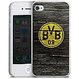 Apple iPhone 4 Slim Case Silikon Hülle Schutzhülle Borussia Dortmund BVB Holzoptik