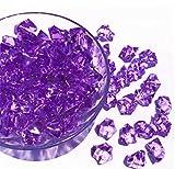 Ivie - Piedra de Cristal acrílico Transparente para Peces, acuarios, terrarios, jarrones, Plantas, decoración de jardín (200 Gramos), Color Morado