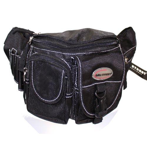 Bag Street Bauchtasche Hüfttasche Gürteltasche Blau Nylon schwarz
