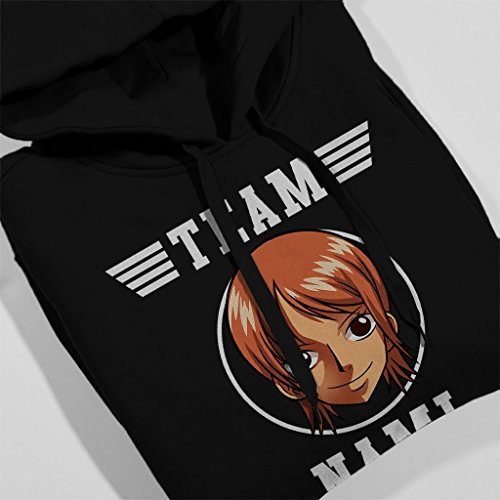 Team Nami One Piece Women's Hooded Sweatshirt Black