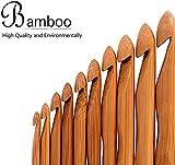 Vejaoo 12pcs Carbonized Bamboo Knitting Needles Single Pointed Crochet Hooks Set