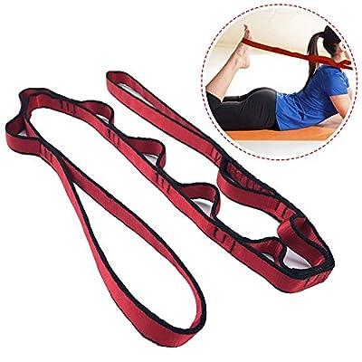 Übung Yoga Gurt, Yoga Stretching Band Strap mit Multi Loop Gurt für körperliche Therapie Yoga Dance Pilates mehr Flexibilität mit mehreren Grip Schlaufen
