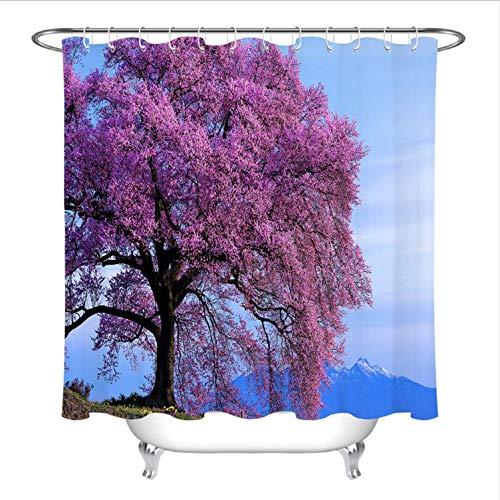 HHIAK666 Duschvorhang Scenic Tree Mountain Travel Bad Vorhang Natur Waschbar Wasserdichtes Gewebe Für Badewanne Decor180 * 180 cm
