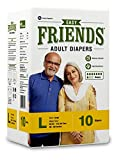 #5: Friends Adult Diaper (Basic) – Large (10 Count)
