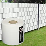 M-tec Profi-line ® PVC Sichtschutzstreifen Qualitäts-Zaunbauerqualität: 65m x 19cm ✔ weiß ✔ kein Verbleichen ✔ kein Schrumpfen ✔ knitterfrei | Nach M-tec technology Rezeptur hergestellt |