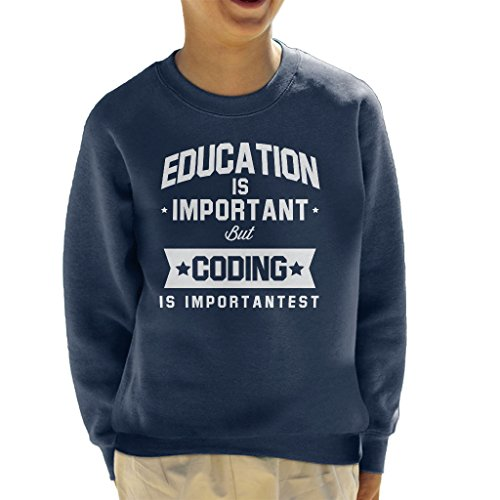 nt But Coding Is Importantest Kid's Sweatshirt ()