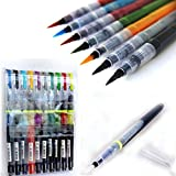 Best Art Markers - KABEER ART 10 Colors Brush Pen Watercolor Calligraphy Review