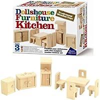 Great Gizmos - Mobili della cucina in miniatura per casa delle bambole, in legno, 8 pz., 4+ anni - Casa Boxed
