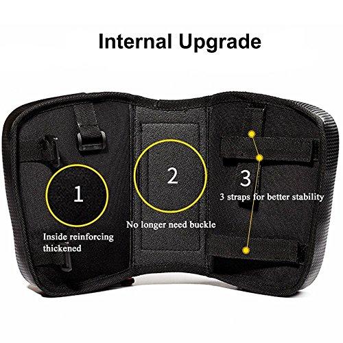 PINKAH Wasserdichtes/reflektierendes Design Bike Front Beam Package mit TPU Touch Screen für Handy 6.2 Zoll oder unten Schwarz/Grün