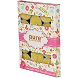 Pure Source India 12 Pcs Pack Of Scented Tea Light Candles Citronella Fragrance Smokeless ,BURN TIME 3 HRS ABOUT.