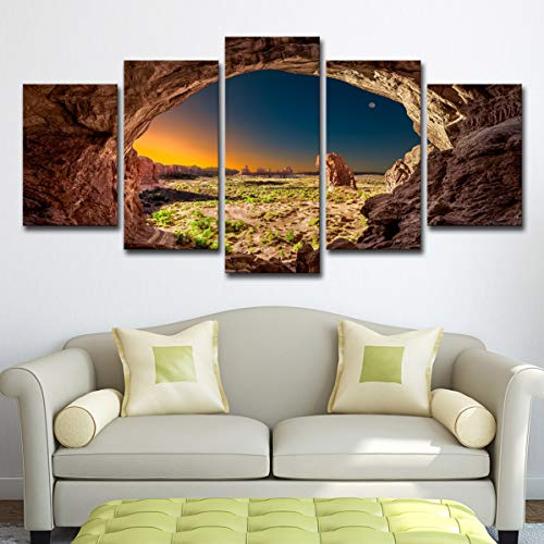 2019 Explosion Modelle 5 Arch Utah Arches Nationalpark Canyon View Rock Sonnenaufgang Art Deco-l Art-deco-rock