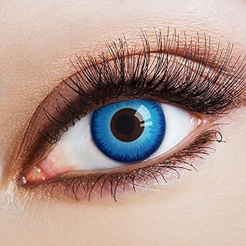Couleur des lentilles de contact Steelblue Eye de aricona – années couvrant la lentille à terme pour les yeux sombres et claires- sans correction- les lentilles colorées pour le carnaval- des soirées à thème et des costumes d'Halloween