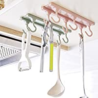 Organizador de 6 ganchos para armario de cocina, armario de cocina, estante de almacenamiento