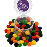 #2: Asian Hobby Crafts Wool Yarn Pom-Poms: Pack Of 100 Pcs Approx: Color - Nautanki