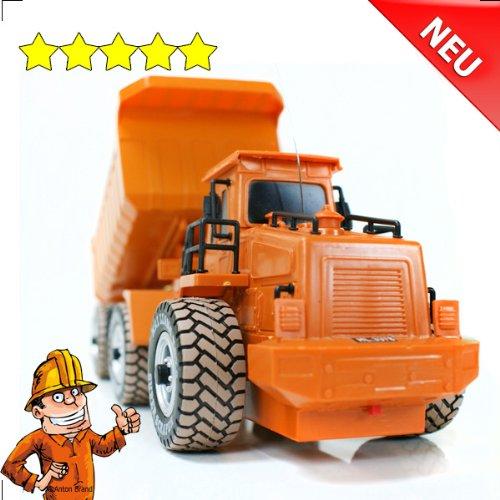 RC Auto kaufen LKW Bild 2: RC Muldenkipper Kipplader Bagger ferngesteuertes Baufahrzeug Super Truck 27 MHz V&V ®Noyan*