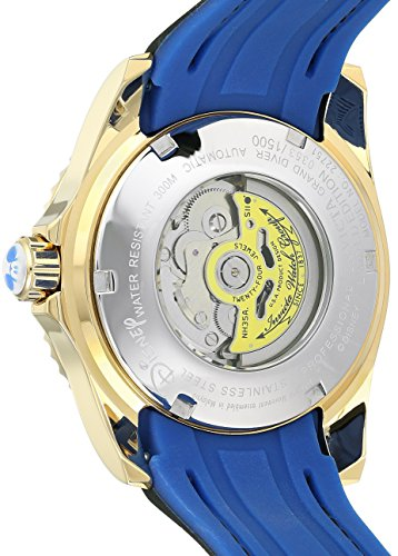 Invicta Men's 'Disney Limited Edition' Automatic Stainless Steel and Silicone Casual Watch, Color:Black (Model: 22751)
