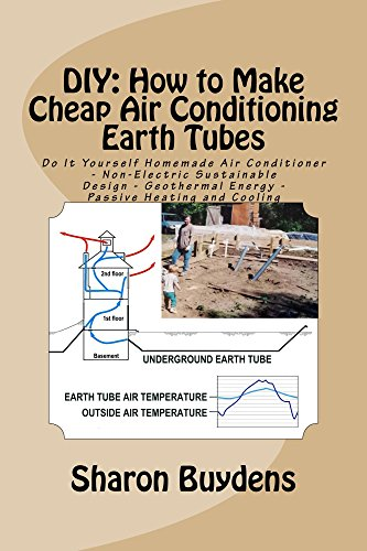 DIY: How to Make Cheap Air Conditioning Earth Tubes: Do It Yourself Homemade Air Conditioner - Non-Electric Sustainable Design - Geothermal Energy - Passive Heating and Cooling (English Edition) (Electric Tube General)