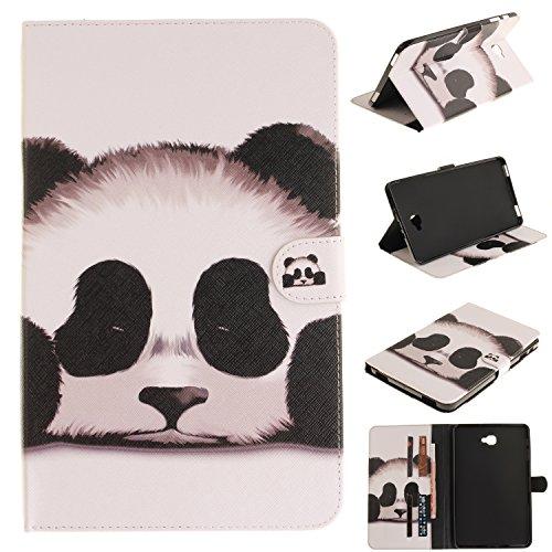 Cozy Hut Samsung Galaxy Tab A 10.1 Housse,Samsung Galaxy Tab A 10.1 Coque, Samsung Galaxy Tab A 10.1 SM-T580 Wallet Case Cover Motif Panda géant Coque Étui pour Samsung Galaxy Tab A 10.1
