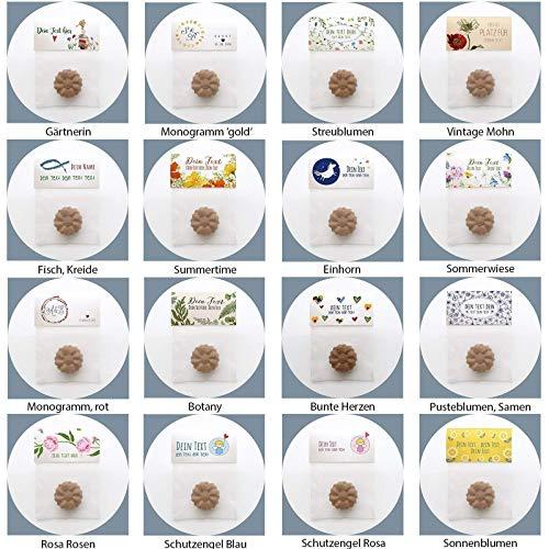 Gastgeschenke Hochzeit Flowerpower Samenbomben BIO Give aways Seedbombs Seedballs ()