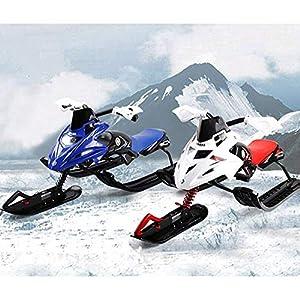 ZQQ Snow Racer Schlitten,Kindererwachsener Nicht Angetriebener Skiwagen Schneemobilschlitten Bergab Lenkbarer Schlitten Mit Kordelzug