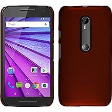 Funda Rígida para Motorola Moto G 2015 3. Generation - goma rojo - Cover PhoneNatic Cubierta + protector de pantalla