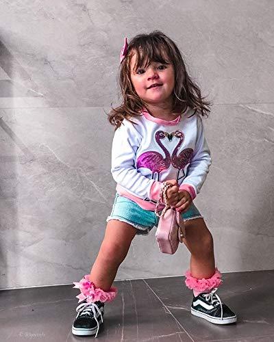 Camiseta Bebé Niña Sudadera sin Capucha de Manga Larga Top Ropa Invierno para Niñas Pequeñas Camiseta con Patrones… 3
