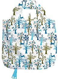 B.B.Begonia A80111915 Flora And Fauna Printed Reusable Shopping Bag - 19.5 X 16.5 In. Pack Of 3