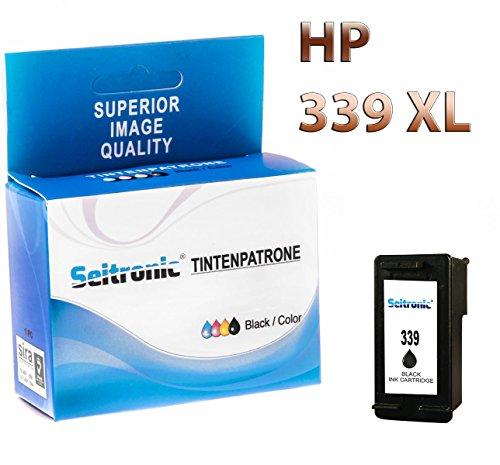 Preisvergleich Produktbild 1x Drucker Patrone Seitronic für HP 339 XL Schwarz DeskJet 6983 6985 9800 9800D