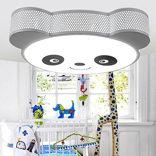Von Panda Kinder Lampen cartoon Licht kreative led Deckenleuchte Energieeinsparung Auge Schlafzimmer Lampen Jungen und Mädchen das Zimmer deckenlampe importiert Led 30 Watt super bright Eye Care -