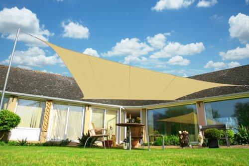 Kookaburra Voile d'Ombrage Rectangle 3,0m x 2,0m Ajouré 320g/m² HDPE Polyester Respirant Protection Solaire Bloque 93.3% Rayons UV pour Jardin, Terrasse, Balcon (Sable du Désert)