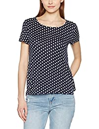 TOM TAILOR Denim Damen T-Shirt Palm Shirt W. Wrap At Back