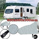 dDanke Passform Alle Jahre Grau Caravan Trailer Anhängerkupplung Bezug 860* 660* 300mm