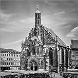Posterlounge Acrylglasbild 120 x 120 cm: NÜRNBERG Frauenkirche & Hauptmarkt von Melanie Viola - Wandbild, Acryl Glasbild, Druck auf Acryl Glas Bild