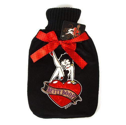 BETTY BOOP Heartbreaker hot water bottle in furry cover by BB Designs