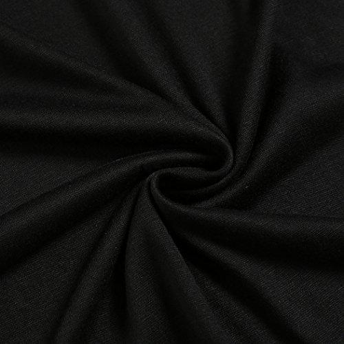 CRAVOG Sexy Clubwear Damen Bluse Band-Arm T-Shirt Tops Sommer Oberteile Schwarz