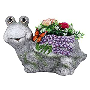 Wonderland Tortoise Planter Made or Resin, Stone Finish, planters, Pot, Animal Statue Garden Pot and planters, Garden planters, Balcony Decor, Garden Decor, Home Decoration Items, Gift, Kids Room