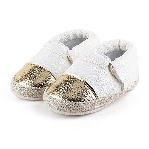 Weiche Baby Schuh Schuhe Mädchen Sohle Hunpta Weiß Weichen Flats cfFXBBq