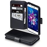 P8 Lite 2017 Case, Terrapin [ECHT LEDER] Brieftasche Case Hülle mit Standfunktion Kartenfächer und Bargeld für Huawei P8 Lite 2017 Hülle Schwarz