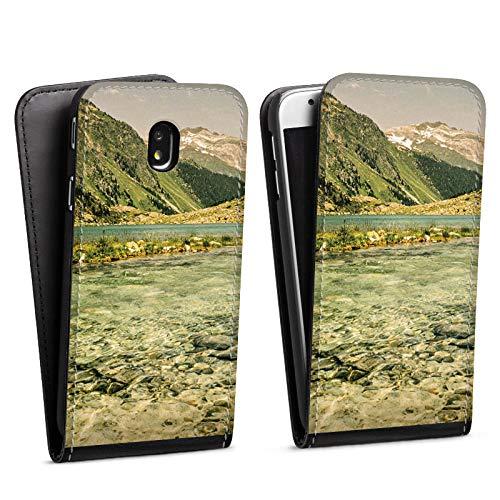 DeinDesign Flip Case kompatibel mit Samsung Galaxy J3 Duos 2017 Tasche Hülle Berglandschaft Forest Wald