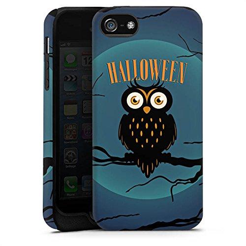 Apple iPhone X Silikon Hülle Case Schutzhülle Halloween Eule Nacht Tough Case matt