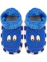 Neska Moda Girls 1 Pair Blue Booties Cum Indoor Slippers for 2 to 4 Years