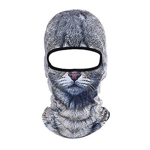 ECYC Warme Gesichtsmaske Winddicht Balaclava Hood Motorrad Ski Winter Neck Schutz Outdoor Forschung Kalten Wetter [graue Katze]