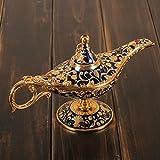 sammelbare Kupferlegierung aladdin magische genie helle Lampe Hauptdekoration Geschenk 21 * 12cm , blue