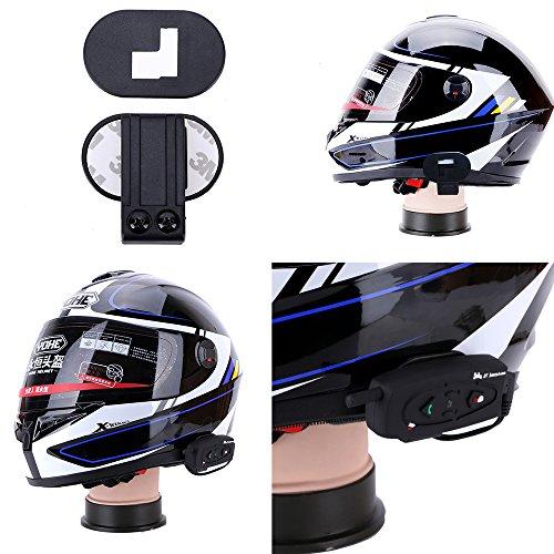 Fodsports 2x Weatherproof BT Motorcycle Snowmobile Multi Interphone Motorbike Handsfree Intercom for Sports Helmet Bluetooth Headset Ski ATV 500m