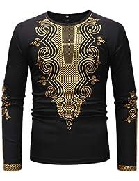 7ba51313f5 Maglione Casual da Uomo, Autunno Stile Nazionale Magliette Uomo Maglioni da  Uomo Sciolto Slim Fit