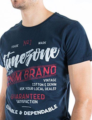 Timezone Herren T-Shirts Script T-Shirt Carbonized Blau (Total 3393)