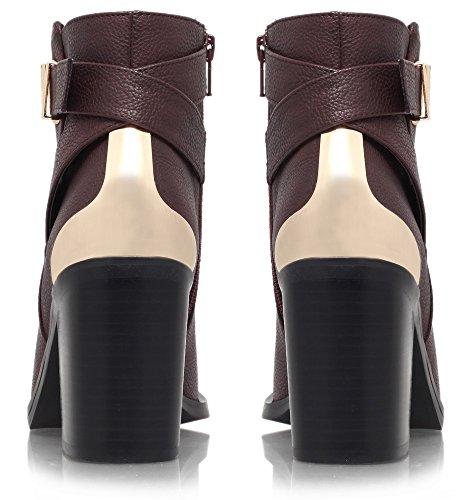 Miss KG Shola Damen Stiefeletten mit dünnem Futter burgunderfarben