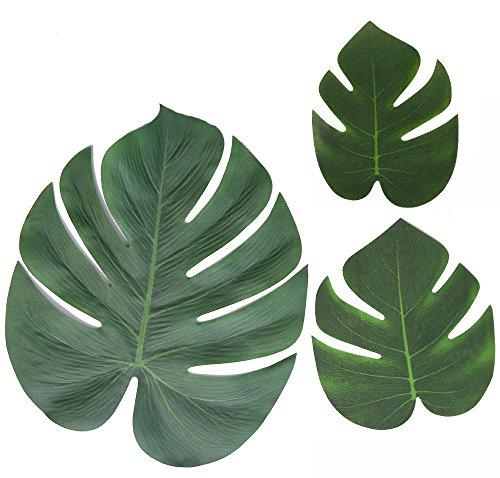 Unbekannt Home Decor 30 Stücke Künstliche Blätter Palm Blätter Desktop Dining Party Dschungel Strand Thema Dekorationen